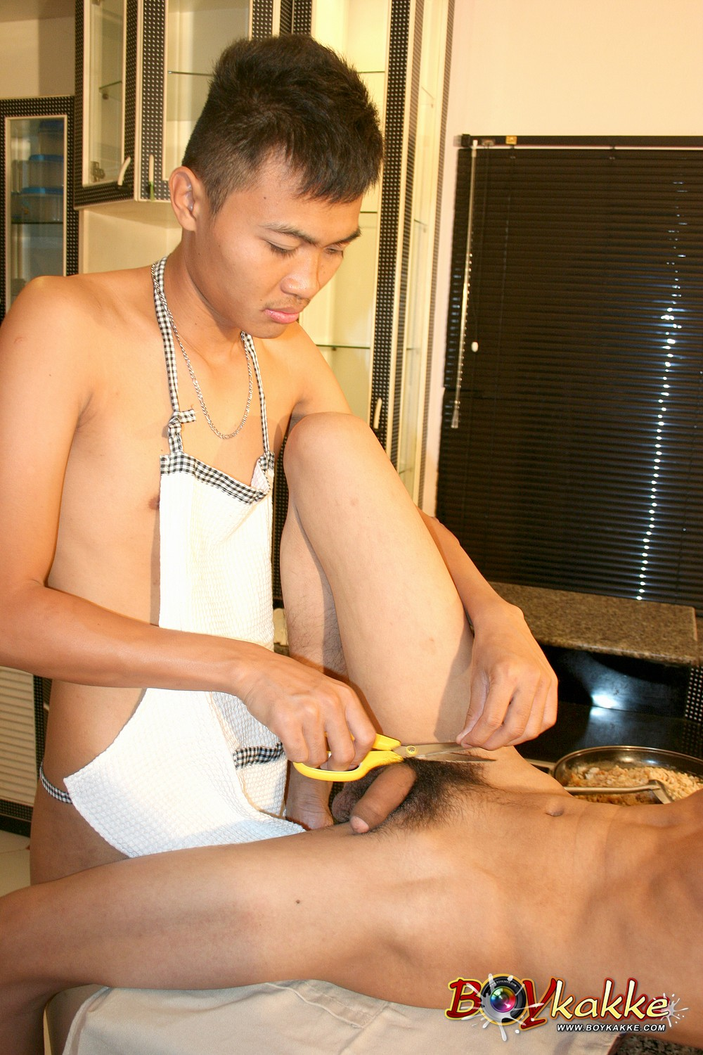 Boykakke Asians Fucking Bareback in Kitchen torrent09 Asian Guys Fucking Bareback in the Kitchen and Make a Cum Facial