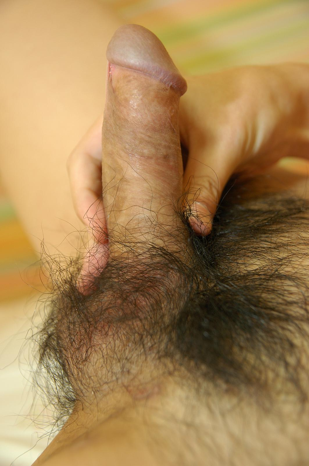Asian hairy cumshot