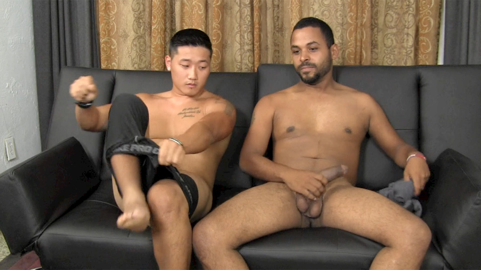 Asian Boy Sucks On Big Cock