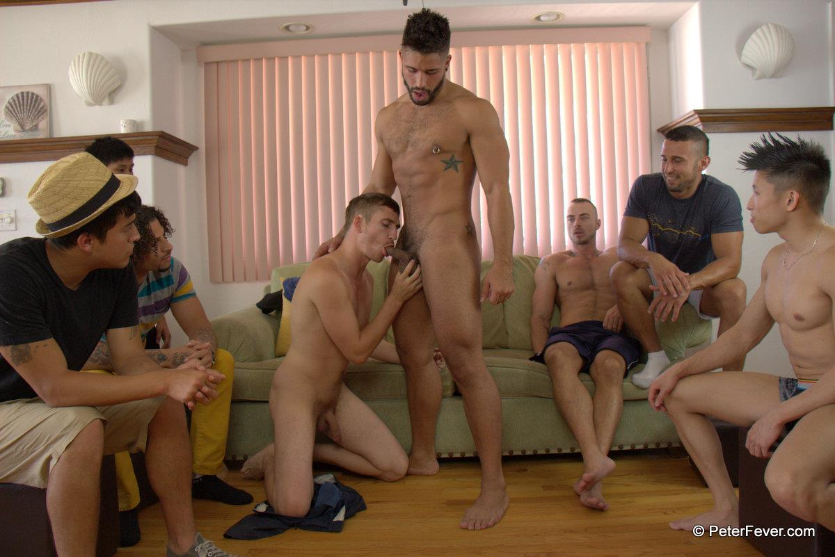 PeterFever S5E13 We Dare You Dayton OConnor and Trey Turner Big Cock Guys Fucking Amateur Gay Porn 05 Amateur Muscle Orgy featuring an Asian Guy With A Big Thick Asian Cock