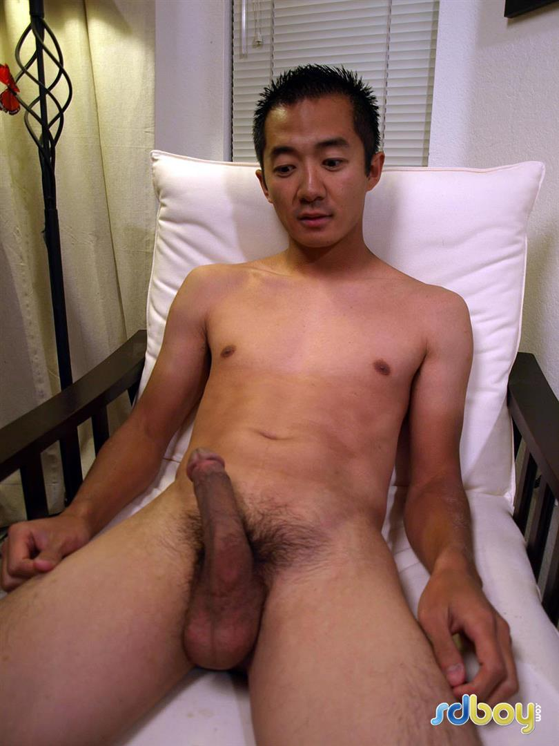 SDBoy Mitsuo Navy Asian Guy With Big Cock Jerking Off Amateur Gay Porn 17 Straight US Navy Officer Jerks His Big Thick Asian Cock