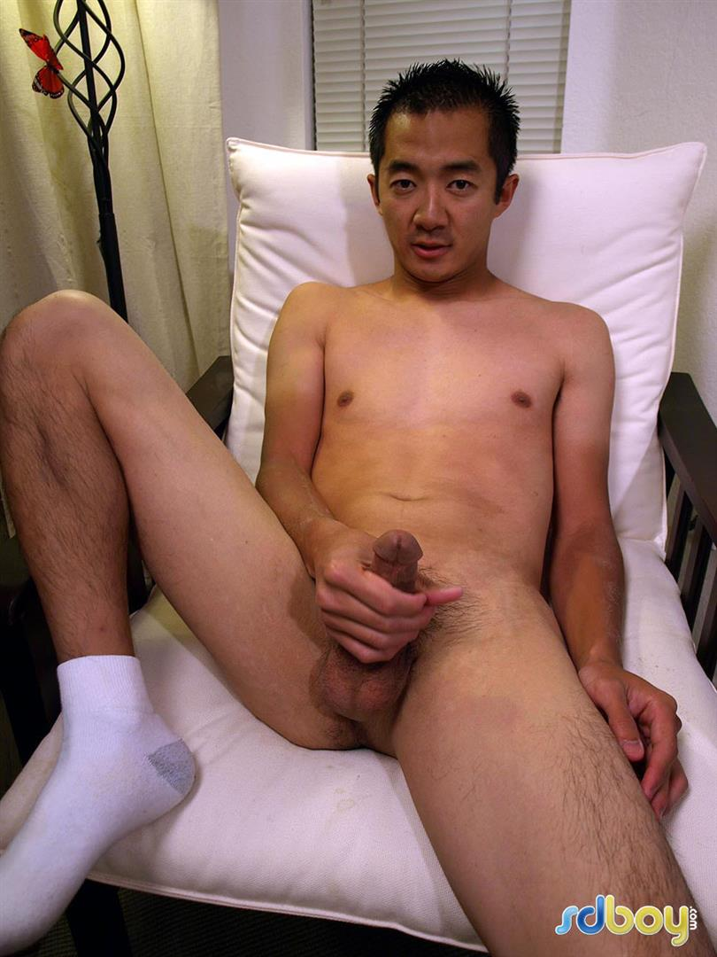 SDBoy-Mitsuo-Navy-Asian-Guy-With-Big-Cock-Jerking-Off-Amateur-Gay-Porn-21 Straight US Navy Officer Jerks His Big Thick Asian Cock