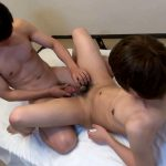 Japanboyz Huge Cum Shot Japanese Twinks 21 150x150 Japanese Twinks With Thick Uncut Cocks Share A Fuck and Some Cum