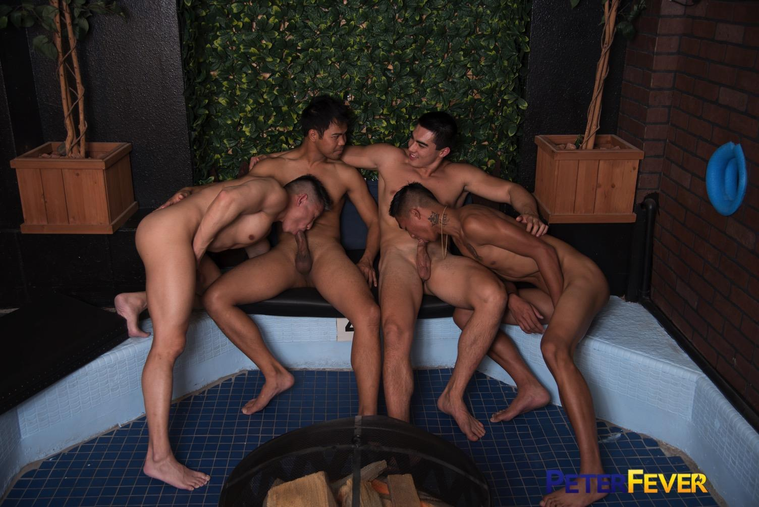 Peter-Fever-John-Rene-and-Alec-Cruz-and-Axel-Kane-and-Jessie-Lee-Big-Asian-Cocks-10 Impromptu Asian Orgy At An Asian Bathhouse